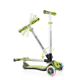 Globber Elite Deluxe Scooter with battery-free LED wheels Kids green